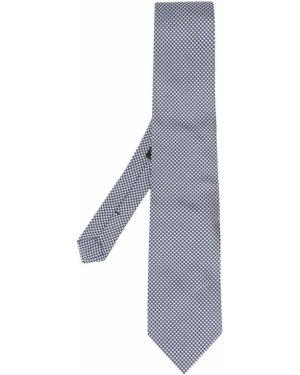 Синий галстук с вышивкой Etro
