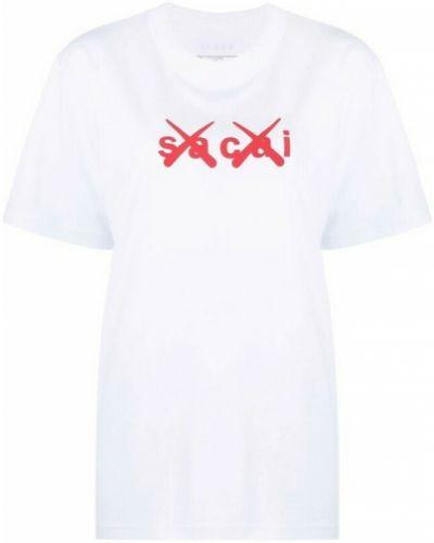 Biała t-shirt Sacai