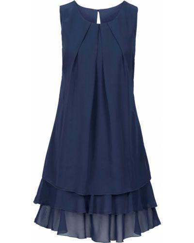 Шифоновое платье - синее Bonprix