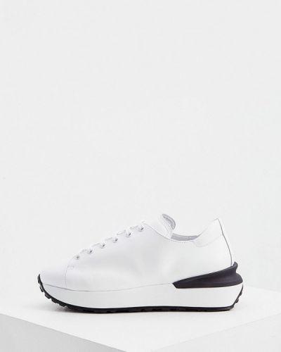 Кожаные белые кроссовки Nando Muzi