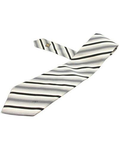 Biały włoski krawat Louis Vuitton Vintage