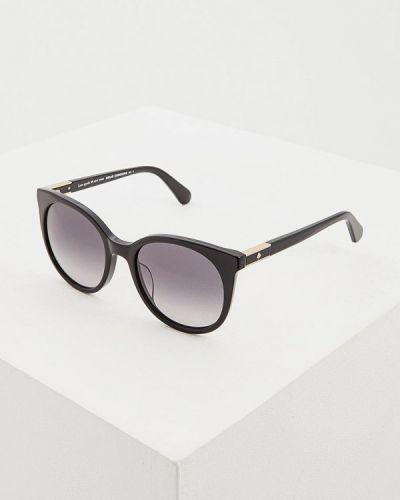 Солнцезащитные очки круглые черные Kate Spade