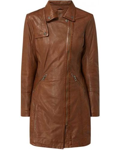 Płaszcz skórzany - brązowy Gipsy