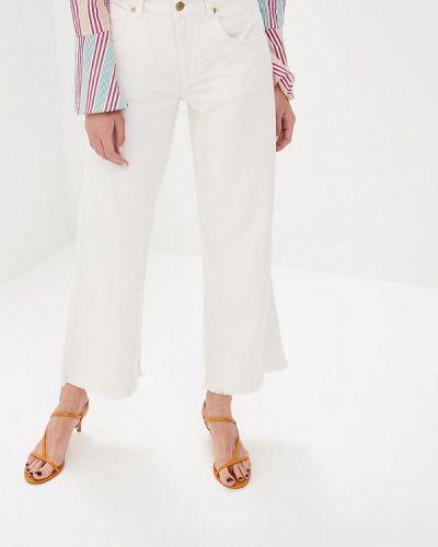Широкие джинсы расклешенные белые Silvian Heach