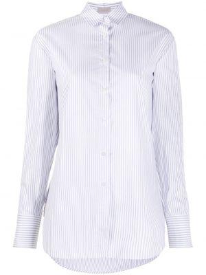 Белая классическая рубашка в полоску с длинными рукавами Mrz