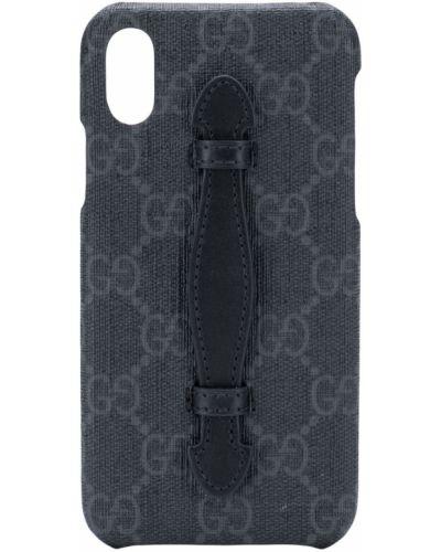 Черный кожаный футляр для очков 30-х годов Gucci