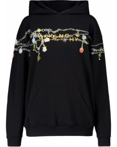 Bawełna bawełna czarny bluza z kapturem Givenchy