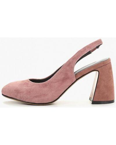 Туфли на каблуке с открытой пяткой замшевые Covani