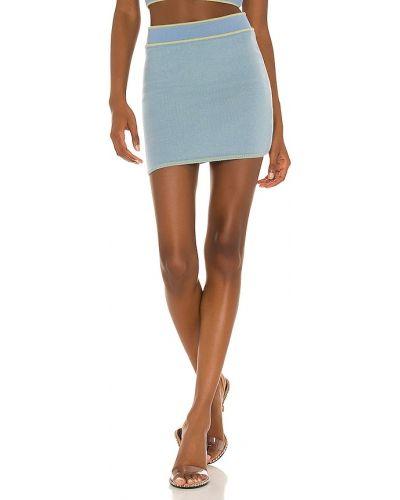 Niebieska spódniczka mini wełniana Danielle Guizio