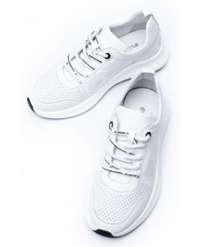 Кожаные белые кроссовки Evromoda