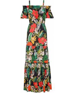 Летнее платье с открытыми плечами с вырезом Bonprix