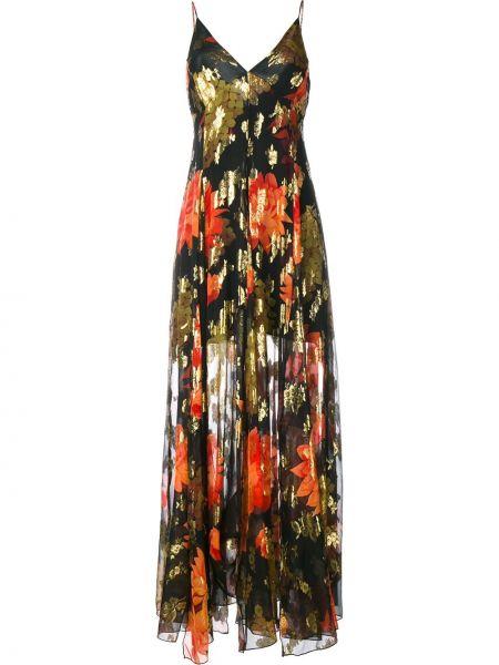 Sukienka długa z jedwabiu w kwiaty z printem Haney