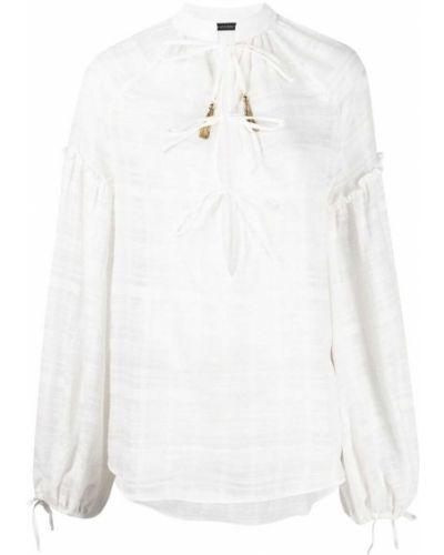 Хлопковая белая блузка с вырезом Wandering