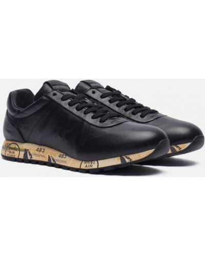 Черные кожаные кроссовки Premiata