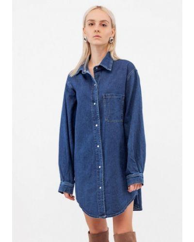 Синее джинсовое платье Dorogobogato