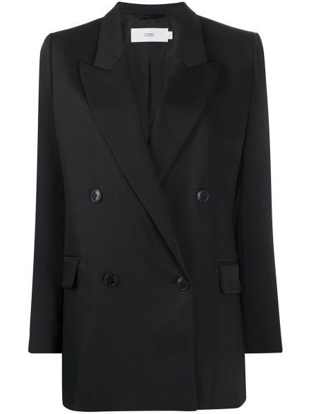 Пиджак черный в полоску Closed