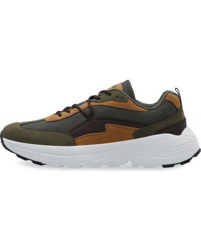 Зеленые кроссовки со вставками Gsd