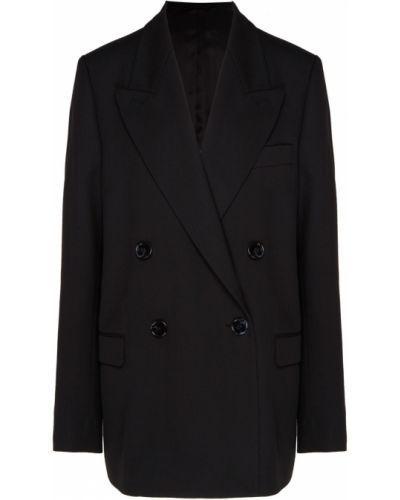 Пиджак черный двубортный Acne Studios
