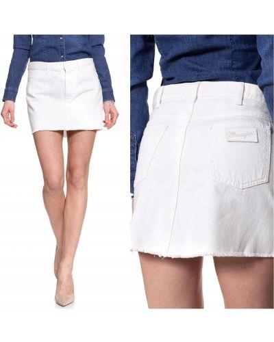 Spódnica jeansowa - biała Wrangler