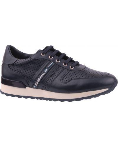 Кожаные кроссовки - синие Baldinini