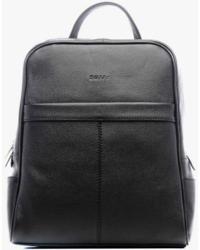 Городской черный рюкзак из натуральной кожи Duffy