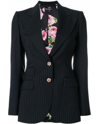 Пиджак в полоску приталенный льняной Dolce & Gabbana