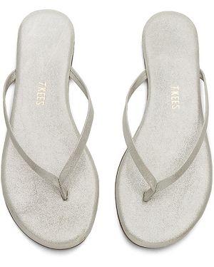 Sandały srebrne - żółte Tkees