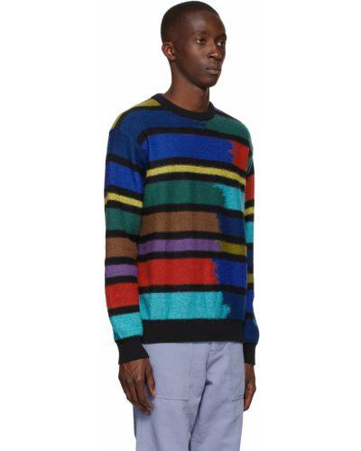 Czarny sweter moherowy z długimi rękawami Ps By Paul Smith