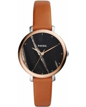 Zegarek srebrny brązowy Fossil