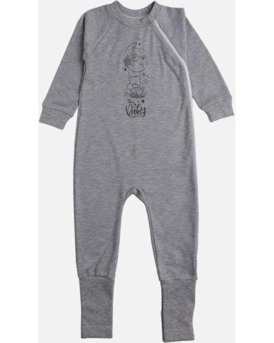 Серый хлопковый комбинезон Garden Baby