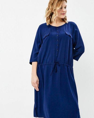 Платье весеннее синее Ulla Popken