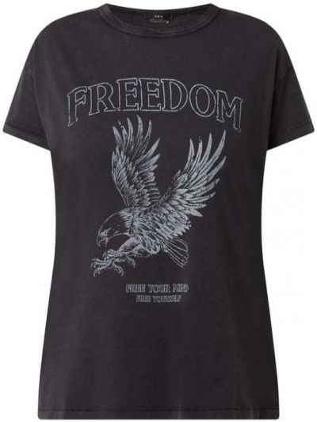 T-shirt z printem - czarna Set