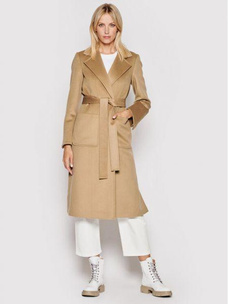 Płaszcz wełniany - brązowy Max&co.