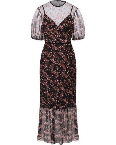 Платье миди черное Markus Lupfer
