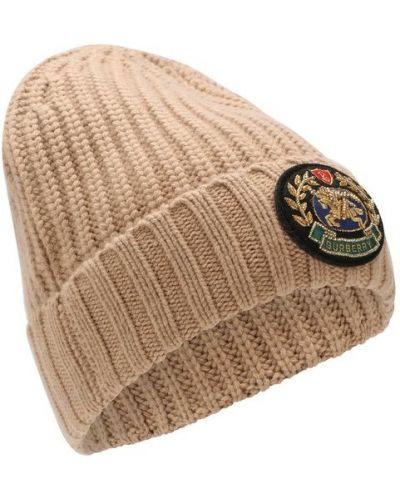 Вязаная шапка кашемировая с логотипом Burberry
