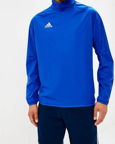 Синий спортивный лонгслив Adidas