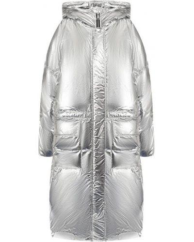 Куртка с капюшоном с перьями Odri