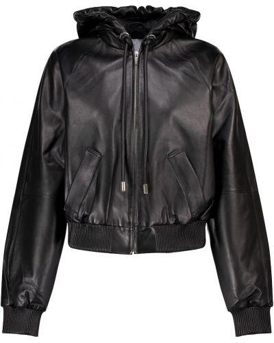 Черная кожаная спортивная куртка Proenza Schouler