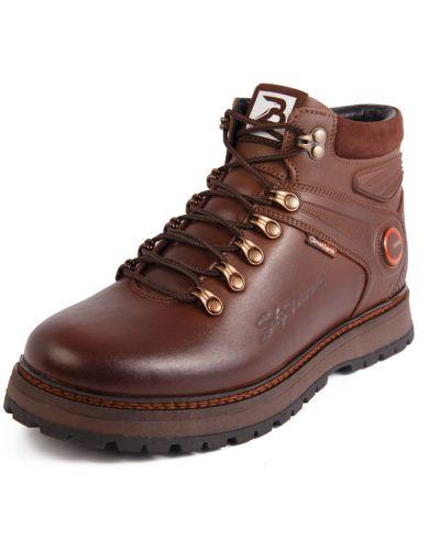 Кожаные ботинки - коричневые Bumer