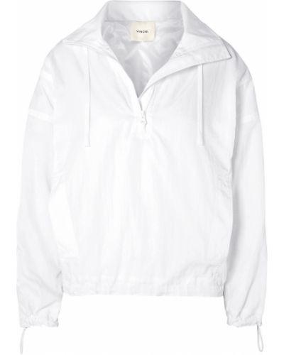 Текстильная белая куртка с карманами Vince