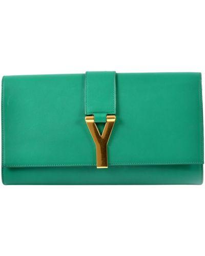 Zielona kopertówka Saint Laurent Vintage