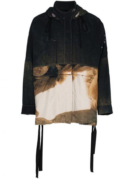 Czarna długa kurtka bawełniana z długimi rękawami Song For The Mute
