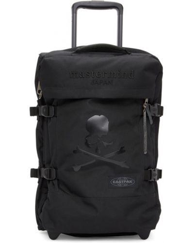 С ремешком текстильный черный чемодан Mastermind World