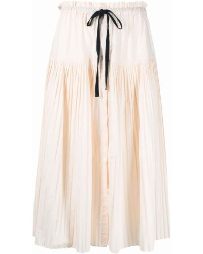 Beżowa spódnica bawełniana Ulla Johnson