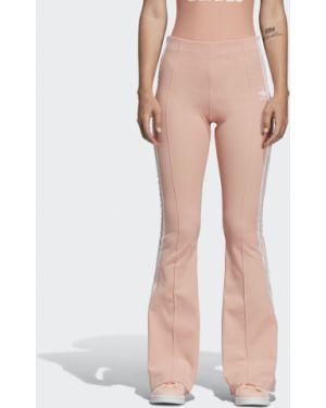 Свободные брюки со стрелками расклешенные Adidas