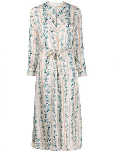 Платье на пуговицах с цветочным принтом Forte Forte