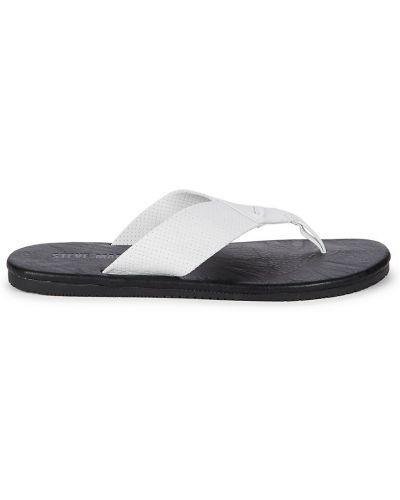 Białe sandały skorzane Steve Madden