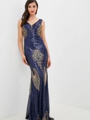 Вечернее платье - синее Soky & Soka