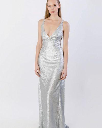 Вечернее платье весеннее серебряный Kriza