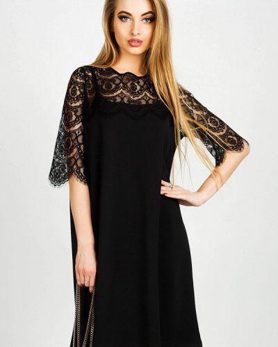 Черное платье осеннее Leo Pride